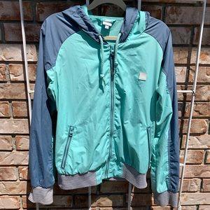 Light Blue Spring Outerwear Bench Jacket - Size XL